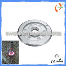 High quality DMX 9W IP68 underwater light, stainless steel 316 pool light Led fountain light