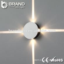 IP44 decoração de parede interior para cima e para baixo luz de parede LED, rodada & quadrado luz de parede LED