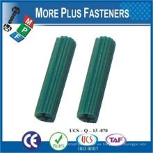Hecho en Taiwán Anclajes con nervios de plástico blanco Anclaje cónico universal de plástico largo