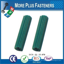 Feito em Taiwan White Plastic Ribbed Anchors Conical Universal Long Plastic Anchor