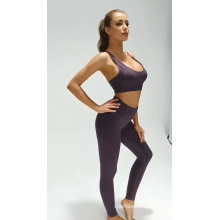Solid Color Breathable Women Fitness Sports Yoga Suit