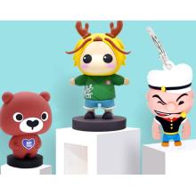 Benutzerdefinierte Cartoon Silikon Geschenke 3D-Schlüsselbund