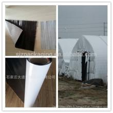 Film noir blanc en polyéthylène / film noir en polyester blanc