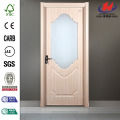 Solid Wood Half View 2-Panel Glass Interior Door