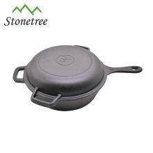Two-side use fashionable wax coating frying pan