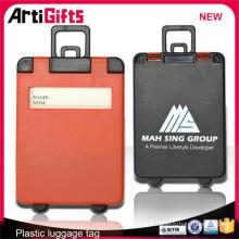 2015 plus récent style en plastique voyage valise bagages sac nom tags
