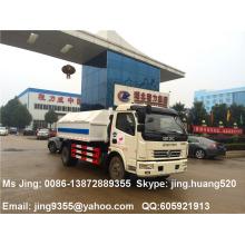 EURO IV DFAC 5-6 cbm camión de basura, camión de basura de brazo con varios contenedores