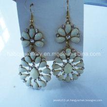Moda jóias / resina pedra moda brinco colorido / moda gancho cair brinco (npe1007)