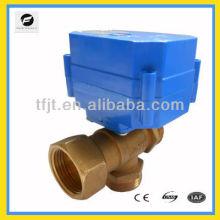 Válvula de bola motorizada de 3 vías para proyecto de agua, Agua doméstica / potable, Sistema de riego
