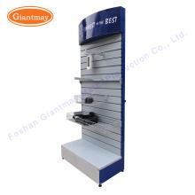 für hängende Hardware Werkzeug Shop Ausstellung Metall Slatwall Boden Display Stand Regal