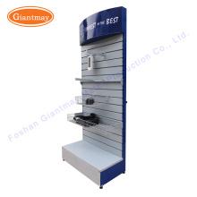 for hanging hardware tool shop exhibition metal slatwall floor display stand shelf