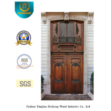 Porta dupla estilo clássico com entalhe para exterior (m2-1008)