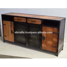 Tablero lateral metálico industrial, tablero de madera reconstruido del ferrocarril y cajón