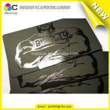 Vertrauenswürdiger Porzellanlieferant transparenter Plastikgewohnheit transparente Plastik Visitenkarten
