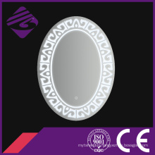Jnh233 New Arrival Oval Bathroom Glass Mirror with Clock