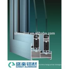 Powder Coating A78 Sliding Windows Aluminum Profiles Aluminum Extrusions