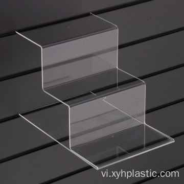 Tiered Acrylic Shoe Shelf cho Slatwall
