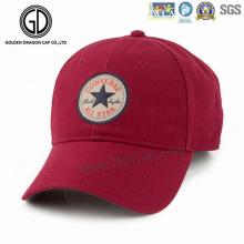 Casquette de baseball de chapeau de sports d'homme de mode avec le logo tissé fait sur commande de broderie d'insigne