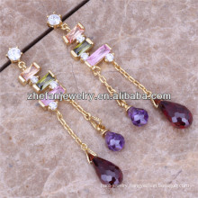 Fashion gold plated earrings chandelier earrings wholesale indian jewelry