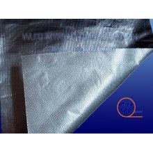 Tissu en fibre de verre en aluminium ignifuge avec filet