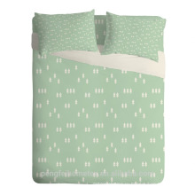 Красивый дизайн печатных микрофибры ткань для постельные принадлежности лист
