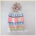 Зимняя снежинка помпон шляпа
