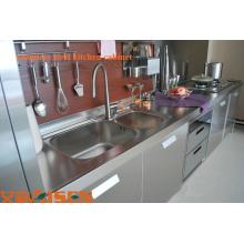 Armário de cozinha por atacado em aço inoxidável com gavetas