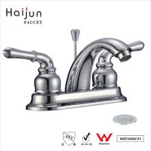 Haijun Precio De Fábrica Moderno De 3 Agujeros De Doble Manija Baño Lavabo Grifo Mezclador