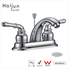 Haijun Factory Price Modern 3 Hole Dual Handle Bathroom Basin Mixer Faucet