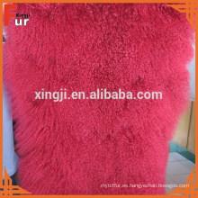 Piel de cordero de Tibet del plato de piel real de la fábrica de China