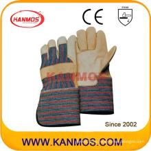 Guantes de trabajo de seguridad de guantes de cuero de grano de vaca largo Cuff (120021L)