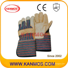 Long Cuff Cow Grain Leather Industrial Safety Work Gloves (120021L)