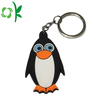 Partihandel Custom Silicone Soft Nyckelring 3D PVC Keychain