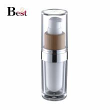 botella de acrílico de la loción de acrílico de lujo de la bomba de bambú de la botella de acrílico blanca de lujo del acondicionamiento del envase para los proveedores de China de la crema de la loción del suero