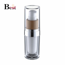 cosmetic packaging high end fancy white acrylic bottle bamboo pump acrylic lotion bottle for serum lotion cream china suppliers