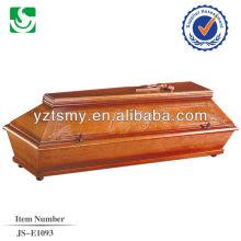 wholesale handcraft new teak coffin