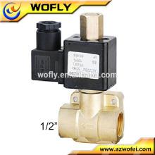 Chine fournisseur à haute température 1 / 2NPT haute pression en acier inoxydable valve solénoide ptfe