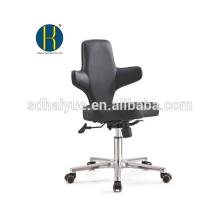 2017 хорошее качество черный кожаный компьютерный стул с хромированными основание