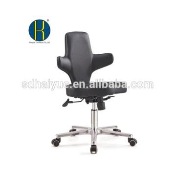 2017 buena calidad silla de la computadora de cuero negro con base de cinco estrellas
