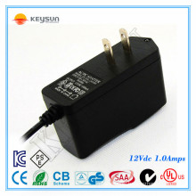 Power Supply Battery Backup Cctv 12v 1a 12w Home Plug Adapters With Ul Gs Ce Kc