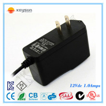 Fonte de alimentação Bateria de backup Cctv 12v 1a 12w Adaptadores de conexão de casa com Ul Gs Ce Kc