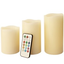 Remote control flameless LED color changed candle