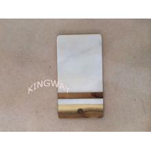 placa de corte de desbastamento de mármore natural com placa / placa da pastelaria 28X15X1CM