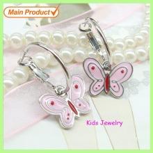 Wholesale Fashion Alloy Enamel Butterfly Earrings/ Dangle Earrings