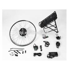 Kit de conversion de vélo électrique BRICOLAGE avec le moteur de hub sans brosse au lithium-ion rack panasonic batterie