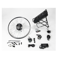 DIY electric bicycle conversion kit with brushless hub motor lithium ion rack panasonic battery