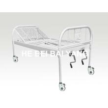 A-137 Tout le lit d'hôpital manuel à double fonction en plastique