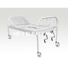 A-137 All Plastic-Sprayed Double-Function Manual Hospital Bed