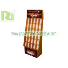 Customized Acrylic Pop Cardboard Displays Flooring For Holding Dvds Encb018