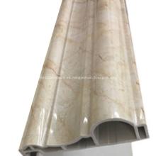 Línea de plástico de piedra artificial Tira de marco de puerta retro